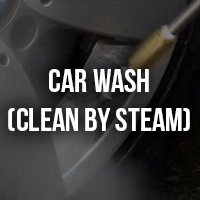 car wash clean by steam