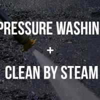 pressure washing + clean by steam
